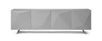 Samantha Buffet Table High Gloss Grey Glass Top | Whiteline