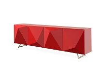 Samantha Buffet Table High Gloss Red | Whiteline