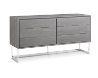 Skylar Buffet Table Grey Oak Veneer | Whiteline