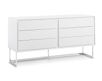 Skylar Buffet Table High Gloss White | Whiteline