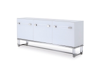 Brianna Acrylic Buffet Table White | Whiteline
