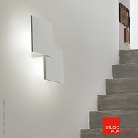 Puzzle Double Square Wall and Ceiling Light AP2-PL2 | Studio Italia Design
