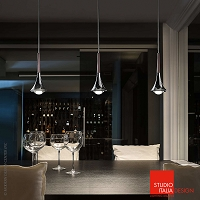 Rain 3-light Linear Suspension | Studio Italia Design