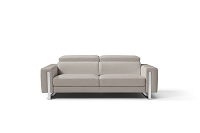 Adriano Italian Sofa Warm Grey | Whiteline