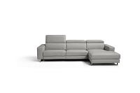 Augusto Italian Sectional Sofa Light Grey | Whiteline