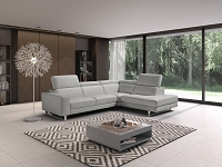 Augusto Italian Large Sectional Sofa Light Grey | Whiteline