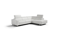 Augusto Italian Large Sectional Sofa White | Whiteline