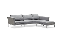 Ursula Outdoor Sectional Sofa Dark Grey | Whiteline