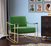 Tov Furniture Baxter Green Velvet Chair -  Clearance