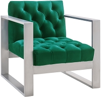 Oliver Green Velvet Chair | Tov Furniture