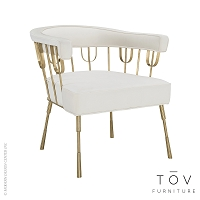Copley Cream Velvet Chair | Tov Furniture
