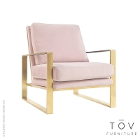 Mott Mauve Velvet Chair | Tov Furniture