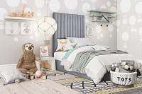 Tov Furniture Arabelle Grey Bed Twin
