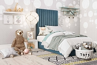 Tov Furniture Arabelle Sea Blue Twin Bed