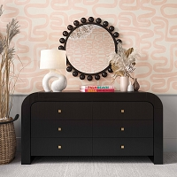 Tov Furniture Hump 6 Drawer Black Dresser