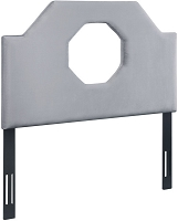 Tov Noctis Twin Headboard in Grey Velvet