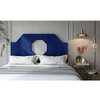 Tov Furniture Noctis King Headboard Navy Velvet
