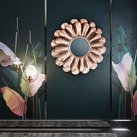 Tov Furniture Blossom Rose Gold Mirror