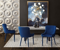 Tov Furniture Draco Navy Velvet Chair