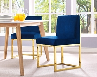 Tov Furniture Haute Navy Velvet Chair -  Clearance