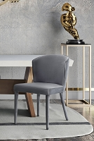 Tov Furniture Metropolitan Grey Velvet Chair