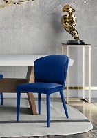 Tov Furniture Metropolitan Navy Velvet Chair