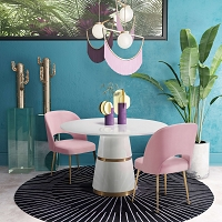 Tov Furniture Swell Blush Velvet Chair