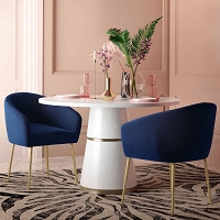 Tov Furniture Arya Performance Velvet Navy Dining Chair