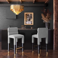 Tov Furniture Taylor Grey Velvet Counter Stool