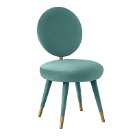 Tov Furniture Kylie Sea Blue Velvet Dining Chair