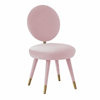 Tov Furniture Kylie Bubblegum Velvet Dining Chair