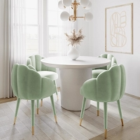 Tov Furniture Gardenia Moss Green Velvet Dining Chair
