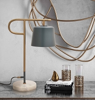 Tov Furniture Babel Marble Base Table Lamp