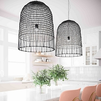 Tov Furniture Effie Rattan Chandelier