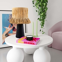 Tov Furniture Amira Rafia Natural Table Lamp