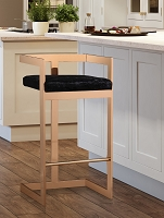 Tov Furniture Marquee Black Velvet Bar Stool -  Clearance