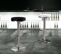 Tov Furniture Fano White Adjustable Barstool