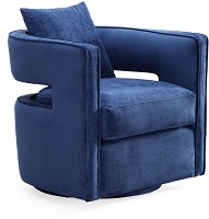 Kennedy Navy Swivel Chair | Tov Furniture