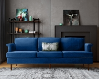 Tov Furniture Porter Navy Velvet Sofa