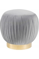 Tov Furniture Tulip Grey Velvet Ottoman