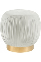 Tov Furniture Tulip Cream Velvet Ottoman