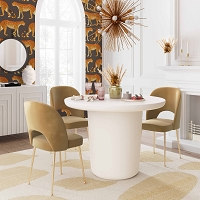 Tov Furniture Roxie Ivory Concrete Dining Table