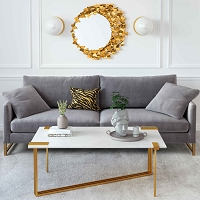 Tov Furniture Butterfly Gold Mirror