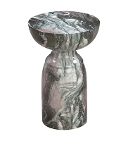 Tov Furniture Rue Grey and Blush Marble Side Table