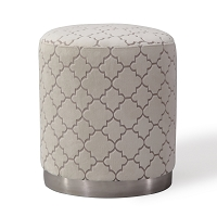Tov Furniture Opal Cream Moroccan Ottoman