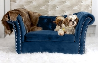 Tov Furniture Dachshund Navy Pet Bed
