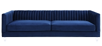 Tov Aviator Blue Velvet Sofa