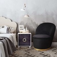 Tov Furniture Julia Black Velvet Junior Chair