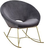 Tov Furniture Nolan Grey Velvet Chair