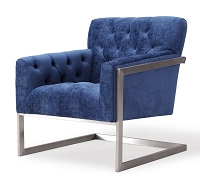 Tov Furniture Moya Navy Velvet Chair